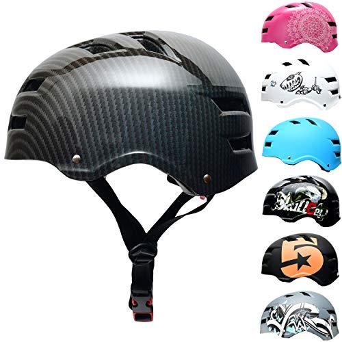 Skullcap® Skaterhelm Erwachsene Carbon Carbon - Fahrradhelm Herren ab 14 Jahre Größe L 58-61 cm - Scoot and Ride Helmet Adult Carbon - Skater Helm für BMX Inliner Fahrrad Skateboard
