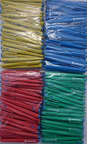 Detektierbarer Kugelschreiber mit Clip/Mine einziehbar/Gehäusefarben: blau, gelb, rot, grün (rot)