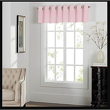Newport Grommet Window Curtain Valance in Light Pink