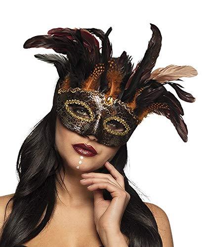 TH-MP Hexenmeisterin Voodoomeisterin Voodoo Hexe Augenmaske Halloweenmaske