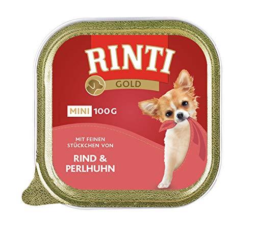Rinti Gold Mini Rind & Perlhuhn, 16er Pack (16 x 100 g)