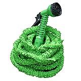 casa pura Profi Gartenschlauch Set Aqua PRO | flexibel - leicht - platzsparend | 2-Fach Schlauch für hohen Druck | 7 Brause Funktionen | grün 30 m Länge