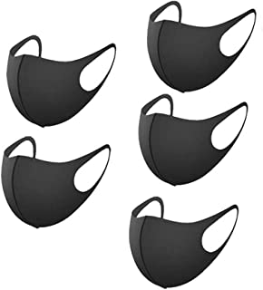 Anti Dust Face Masks Shield Breathable Washable Reusable Cover For Anti-Pollution Protection, 5 Pcs