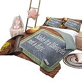 Los juegos de cama de lujo del hotel Fitness lo convierten en un estilo de vida, no un deber Pizarra con mancuernas Cinta métrica en madera Juego de funda nórdica con cuna estampada Multicolor con 2 f