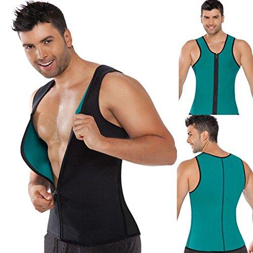 Dobo - Camiseta Sauna fitness para quemar grasa - Confeccionado en tejido de neopreno hipoalergénico con cierre de cremallera, Large