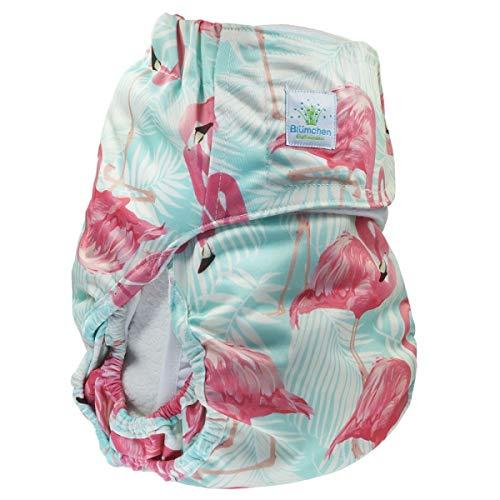 Bloemetjes jeugd/volwassene windel Flamingo Complete luier XS/Junior: Bundweite 38-60cm flamingo