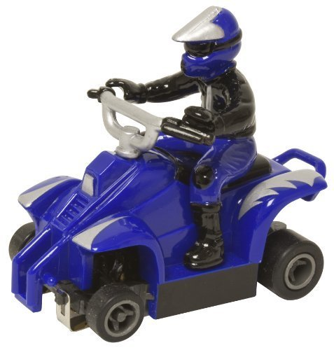 Life Like ATV With rider Fast Tracker Slot Car - Blue With Silver Lightning by Life Like (English Manual)