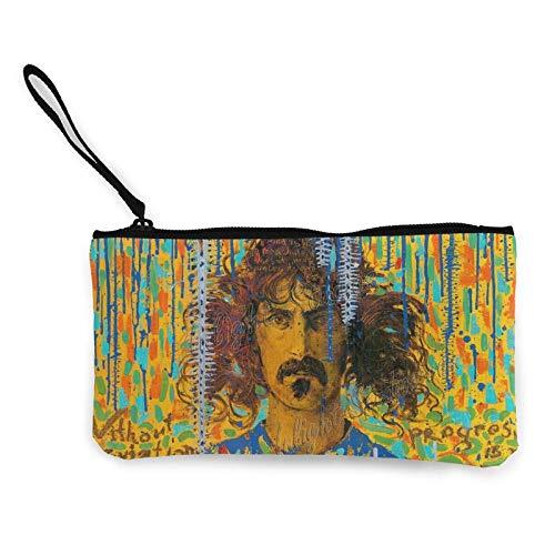 Frank Zappa Leinwand Münzgeldbörse Niedlicher kreativer Cartoon Multifunktionale tragbare Geldbörse Geeignet für Reisebüro 4,72 '8,66' Zoll