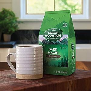 Green Mountain Coffee Roasters Dark Magic, Ground Coffee, Dark Roast, Bagged 18 oz