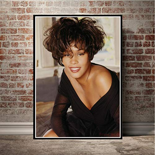 lubenwei Whitney Houston Poster Music Star Canvas Painting Prints Wall Art Picture For Living Room Home Decor 40x50cm No frame AW-1406