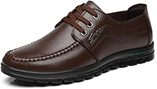 CAIFENG Moda Moda Oxford Oxford Casual Simple Low Top Lace Up Redondo Toe Zapatos Formales (Color : Brown, Size : 42 EU)