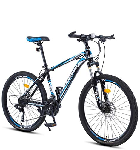 DGAGD 24 inch Mountain Bike Male and Female Adult Variable Speed Racing Ultra-Light Bicycle 40 Cutter Wheels-White Blue_27 Speed
