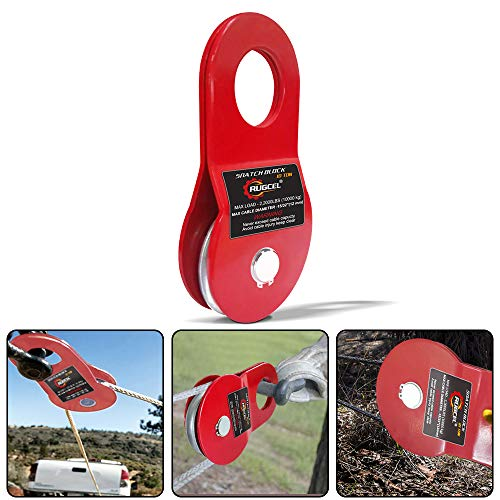 RUGCEL WINCH 10T Heavy Duty Recovery Winch Snatch Block, 22000lb Capacity