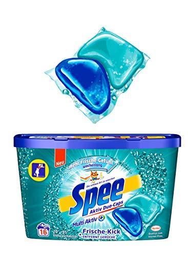 Spee Duo-Caps Frische-Kick, Vollwaschmittel, 128 (8 x 16) Waschladungen mit mehr Frische Gefühl