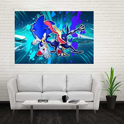 1000pcs_Wooden Adult Puzzle_Sonic New Blue Flash_Puede usarse como una Bola de estrés para Adultos o un Juego de Rompecabezas_50x75cm