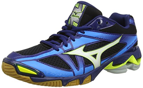 Mizuno Wave Bolt, Zapatos de Voleibol para Hombre, Multicolor (Black/White/Bluedepths), 44.5 EU
