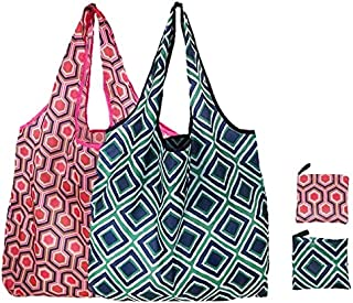 Elios Designer Pattern Reusable and Foldable Shopping Bag/Tote Hand Bag/Travel Bag/Grocery Bag | Heavy Duty, Eco Friendly...