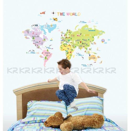 Stickers wereldkaart voor kinderen