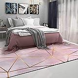 HAZYJT Alfombras Salon Grandes - Moderna Nórdica Alfombra Antideslizante Habitación Dormitorio Lavables Comedor,50x120cm