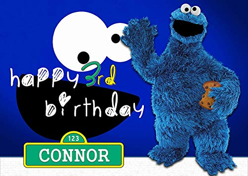 Cookie Monster Sesame Street - Edible Cake Topper - 11.7 x 17.5 Inches 1/2 Sheet rectangular (Best Quality Printing)