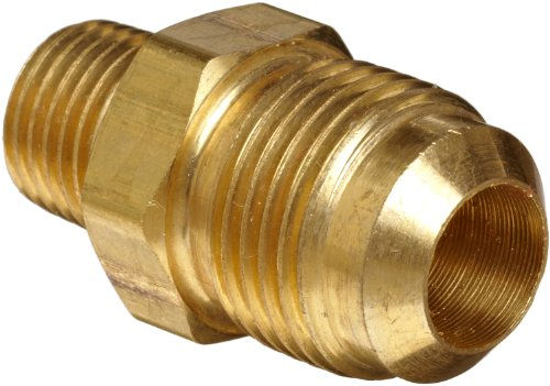 Anderson Metals - 54048-0808 Brass Tube Fitting, Half-Union, 1/2 Flare x 1/2 Male Pipe