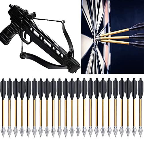 Mini Balestra Frecce 6,3 Pollici Frecce Per Balestra in Alluminio Frecce Per 50-80 Libbre Pistola Balestra Bersaglio Precisione Pratica Tiro Piccolo Tiro Con L'arco Caccia - Non Contiene Balestra