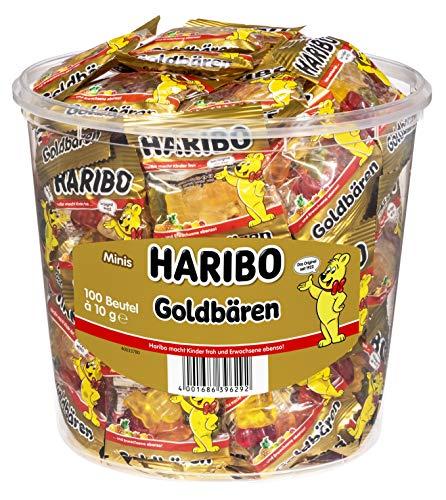 Haribo Goldbären 100 Minibeutel, 980 g Dose