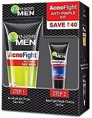 Garnier Men Acno Fight Anti-Pimple Kit (Acno Fight Facewash, 50gm + Acno Fight Clearing Gel,10ml)