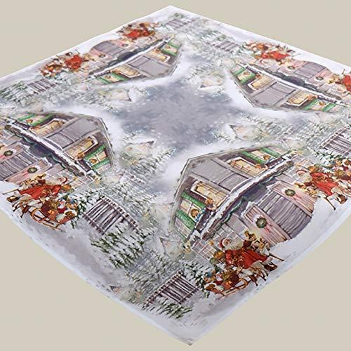 Kamaca Serie Christmas Time hochwertiges Druck-Motiv mit weihnachtlichem Motiv Eyecatcher in Winter Weihnachten (Tischdecke 85x85 cm)