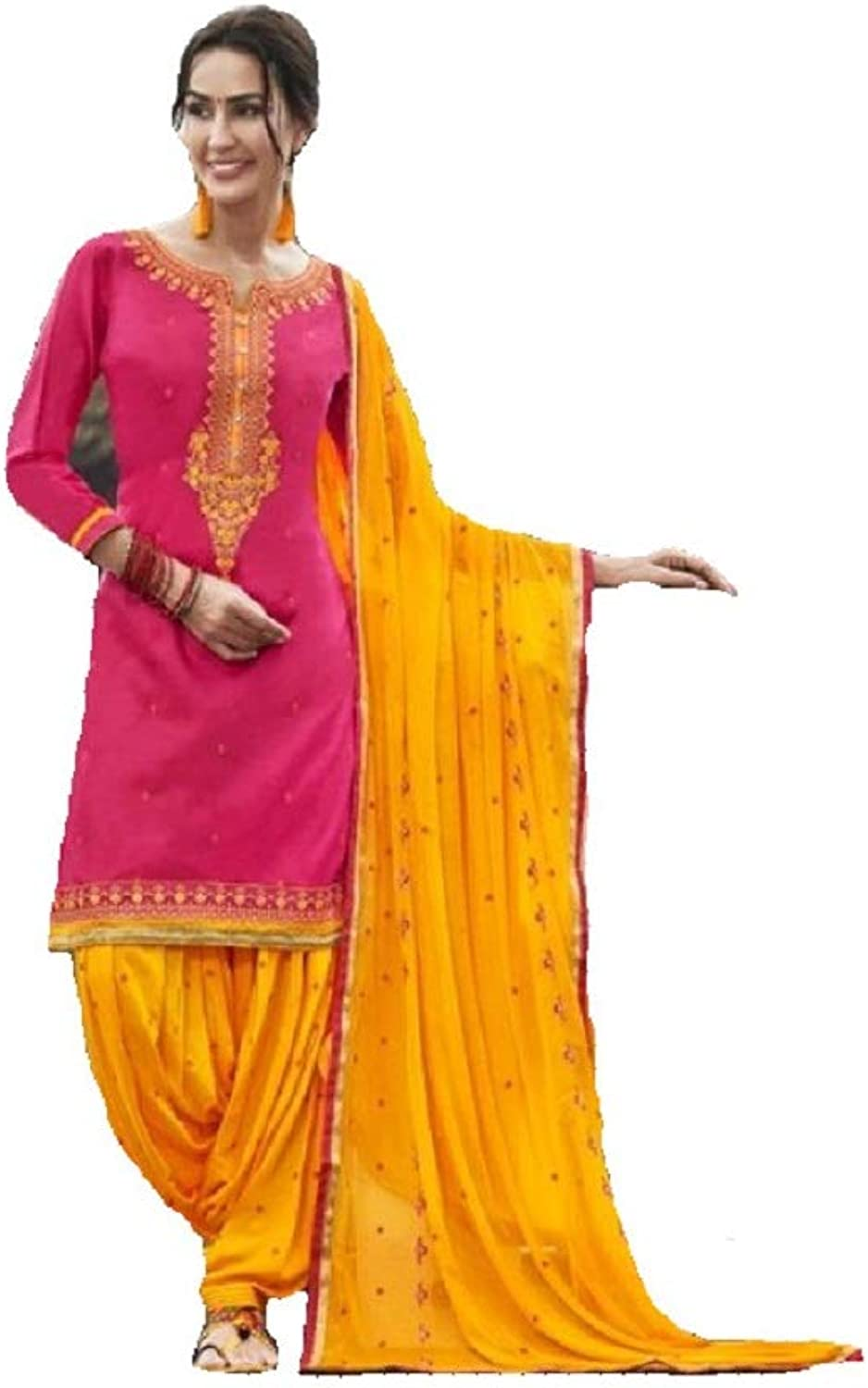 Delisa Ready to Wear Patiala Salwar Embroidered Cotton Salwar Kameez Suit for Womens 010
