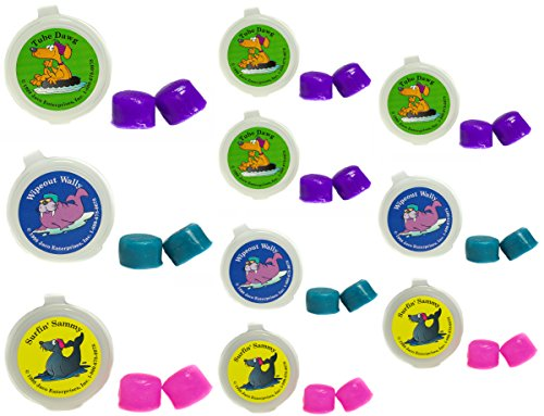 Putty Buddies Ear Plugs 10-Pair Pack - Soft Silicone Ear Plugs for Swimming & Bathing - Invented by ENT Physician - Block Water - Premium Swimming Earplugs - Doctor Recommended (Purple/Teal/Magenta)