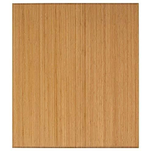 Anji Mountain Plush Bi-Fold Bamboo Chairmat without Lip, 42 x 48-Inch, 12mm Thick, Natural