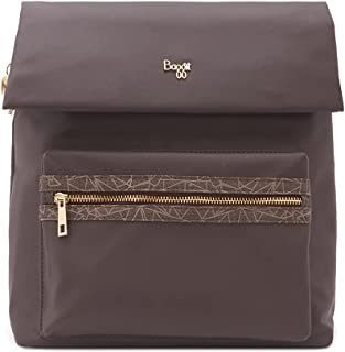 Baggit Spring-Summer 2021 Faux Leather Women's Backpack Handbag (Brown) (Volga)