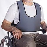 Arnés chaleco de sujeción tipo peto | para silla de ruedas, sillas y sillones de descanso | para personas con inestabilidad | talla 2 (89-178 cm)