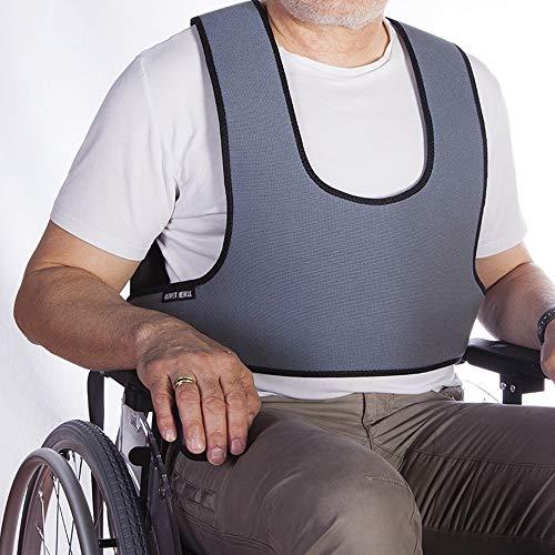 Arnés chaleco de sujeción tipo peto | para silla de ruedas, sillas y sillones de descanso | para personas con inestabilidad | talla 2 (89-178 cm) ✅