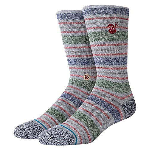 Stance Sock The Fourth St Crew Chaussettes, Grey, Large Homme