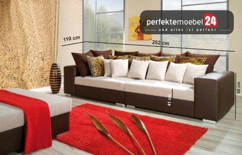 FLORENTINE Sitzsofa Sofagarnitur Wohnlandschaft Eckcouch Couch Sofa mit Ecke (gobi)