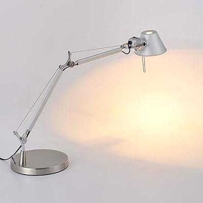 LED Lámpara Escritorio blanca de Mesa 5W con USB, 7 Niveles ...