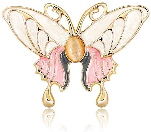 HJ Mode-Schmetterlings-Entwurfs-Brosche Corsage-Kleid-Kostüm-Brosche-reizend Schmucksache-Zusatz-Geschenk für Pullover Schal Hemd Weihnachtsfest-Abschlussball-Geburtstags-Geschenk-Schmuck,Gold,Freie