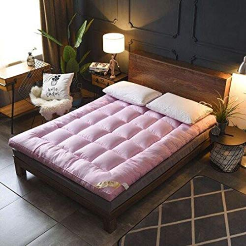 100% de Fibra superfina colchón Home Hotel algodón de la Calidad Almohadilla del colchón de Felpa Pluma Durable Cama de Topper Rey Reina Gemela Completa,Rosado,200 * 200cm