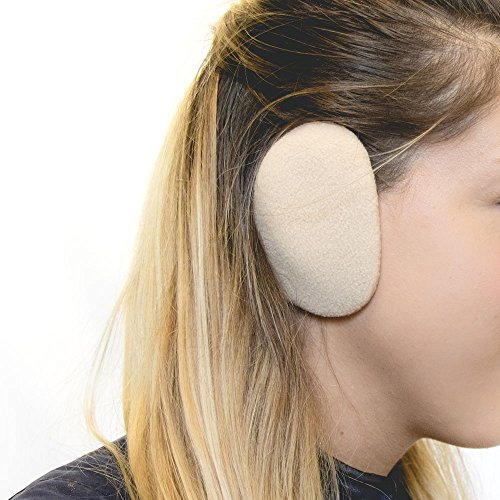 Sprigs Earbags Bandless Ear Warmers/Fleece Earmuffs with Thinsulate - Camel, Large