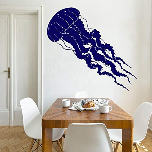 wZUN Home Decoration Jellyfish Wall Sticker Tentacle Vinyl Decal Sea Animal Creative Removable Mural 50X127cm
