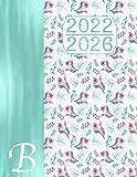 Monograma Caligrafía B – Agenda Quinquenal 2022 - 2026 – Planificación Anual y Mensual: Regalo Calendario I Libreta de Direcciones I Planificador de Cumpleaños Español I Bucket List