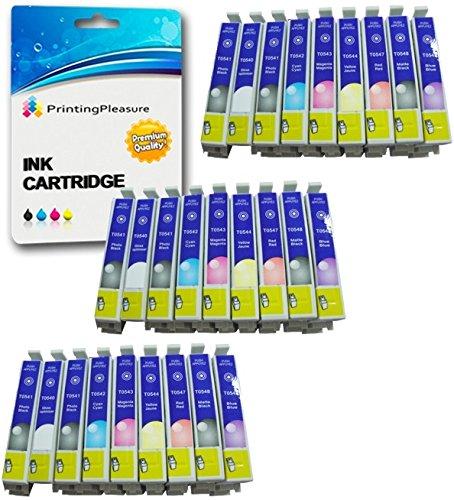 27 Druckerpatronen für Epson Stylus Photo R800, R1800 | kompatibel zu T0540, T0541, T0542, T0543, T0544, T0547, T0548, T0549