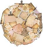 90 Blätter Vintage Aufkleber Scrapbooking Papier,Retro Motivpapier,Tagebuch, Zubehör Material Papier Dekopapier Scrapbooking für DIY Notizbuch Handwerk Kunst Tagebuch