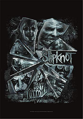 Heart Rock Flagge Original Slipknot Broken Glass, Stoff, Mehrfarbig, 110 x 75 x 0.1 cm