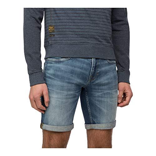 PME Legend Jeans Shorts im 5-Pocket Style blau (MBC Mid Blue Comfort) 34