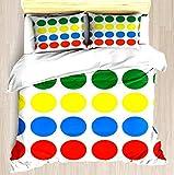 NTCBED Twister - Duvet Cover Set Soft Comforter Cover Pillowcase Bed Set Unique Printed Floral Pattern Design Duvet Covers Blanket Cover Queen/Full Size