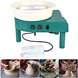 L.HPT Pottery Wheel 25CM Pottery Forming Machine 350W Electric Pottery Wheel with Foot Pedal and Detachable Basinfor Ceramics Clay Art Craft DIY (Blue)