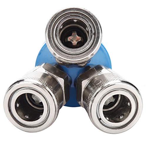 Conector de bomba de aire Instalación conveniente de accesorios rápidos neumáticos tipo C para compresor de aire(Round tee)